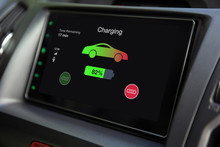 Eco Electric Car Touch Multimedia System With Charging Battery