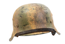 German World War Two (Stahlhelm M1942) Military Helmet.