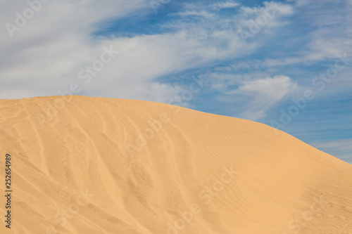Foto  The Imperial Sand Dunes in Southern California