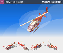 Isometric Medical Helicopter E...