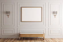 White Interior With Poster