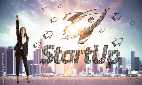 Startup and entrepreneur concept