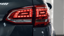 Detail On The Rear Light Of A ...