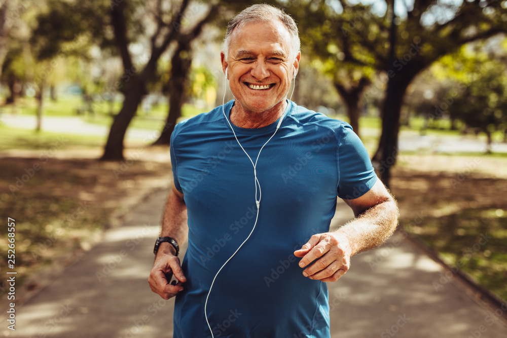 Fototapety, obrazy: Senior man working out for good health