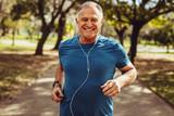 Senior man jogging