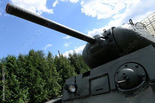 Photo  Heavy tank KV-1S in the museum of military equipment on Poklonnaya Hill in Mosco