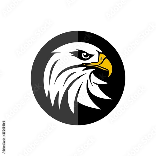 Eagle mascot logo for sport team, Eagle head icon Fototapet
