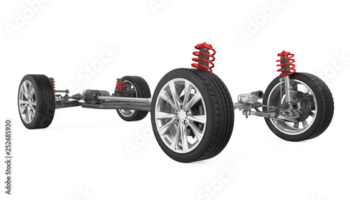 Tablou Canvas Car Suspension System Isolated