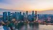 4K Singapore of the marina bay