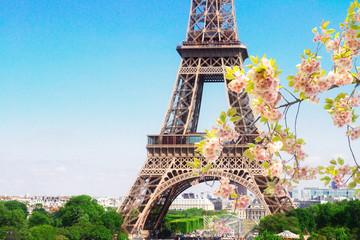 Fototapeta Paryż Eiffel Tower and Paris cityscape