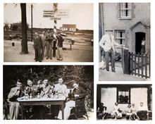 1940-1950s. English People Travelling And Enjoying The Life. 1950s Fashion. London.  Set Of Vintage Photos.