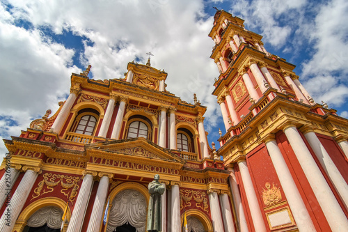 Foto  View on the Saint Francis church in Salta, Argentina