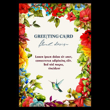 Vintage Floral Greeting Card. ...