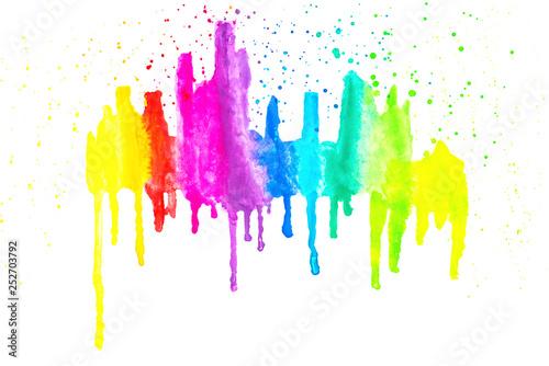 Bunte Farben, isoliert Wallpaper Mural