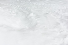 Fresh White Snow With Traces F...