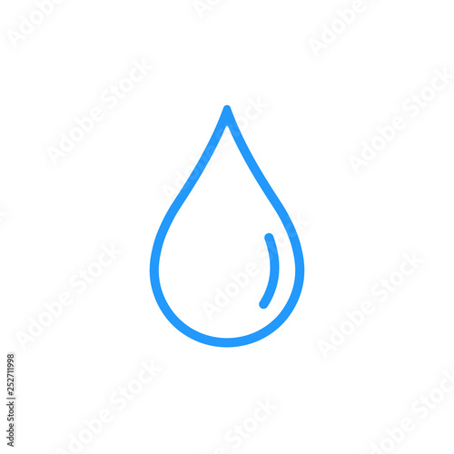 Obraz Water drop line icon. Vector. - fototapety do salonu