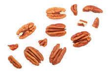 Pecan Nut Isolated On White Ba...