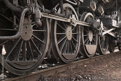 Fotografía  Steam Locomotive Closeup