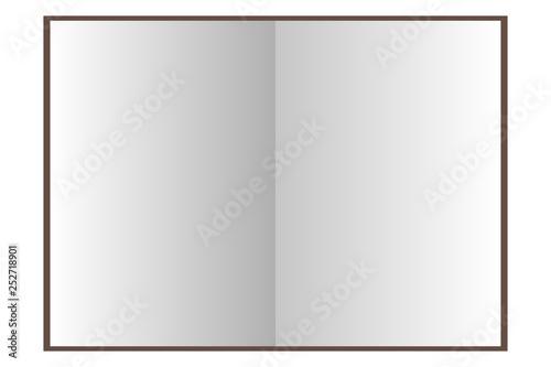 Valokuva  Libros vacíos sobre fondo blanco.