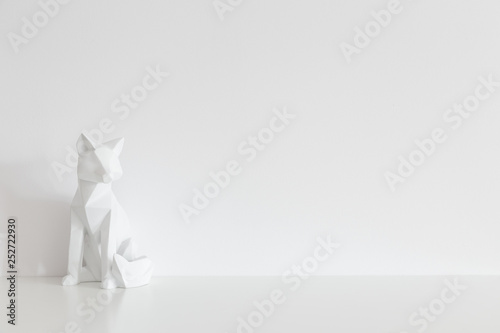 Fotografie, Obraz  Origami home decor and white wall mock up.