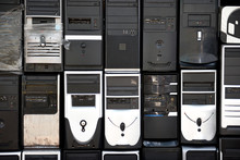 Desktop Computer Towers, Obsolete Hardware Equipment, Outdated PC Technology
