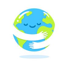 Earth Hug Cartoon