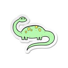 Sticker Of A Cartoon Dinoaur