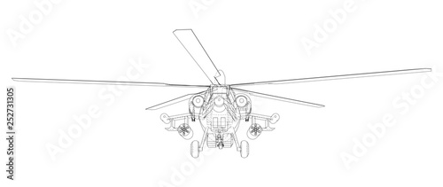 Photo Blueprint of helicopter