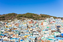 Panorama View Of Gamcheon Culture Village Located At Busan, South Korea