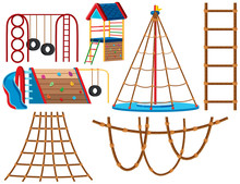 Set Of Playground Equipment