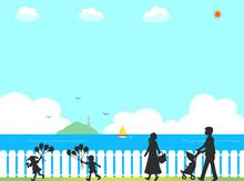 家族 夏 イメージ