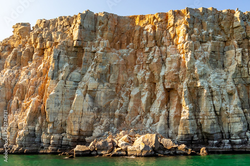 Fotografie, Obraz  Sea and rocky shores in the fjords of the Gulf of Oman