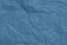 Blue Creased Tissue Paper Texture Background