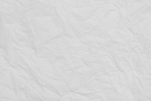 White Creased Tissue Paper Texture Background