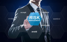Businessman Pointing At Risk M...