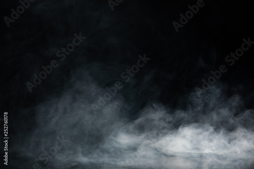 Poster Fumee Abstract Smoke on black Background