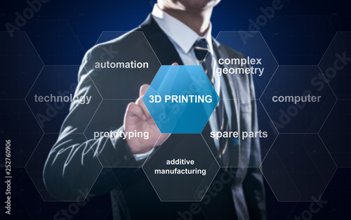 Fotografie, Obraz  Concept about 3D printing which is an innovative additive manufacturing technolo