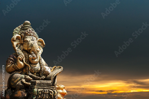 Photo  Ganesha religious restraint thing old Asia Dongtan power tourism Nature sunset
