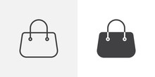 Purse Handbag Icon. Line And G...