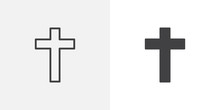 Religion Cross Icon. Line And ...