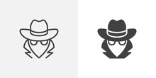 Spy, Agent Icon. Line And Glyp...