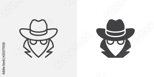 Pinturas sobre lienzo  Spy, agent icon