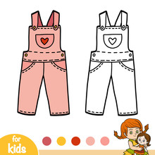 Coloring Book, Kids Dungarees