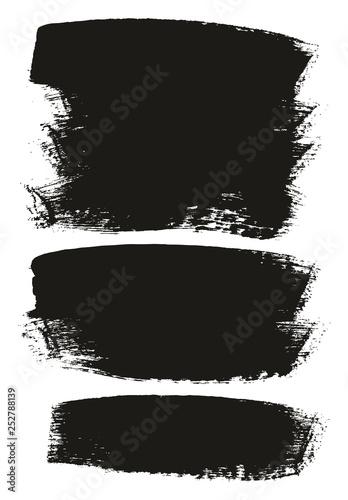 Pinturas sobre lienzo  Paint Brush Medium Background Mix High Detail Abstract Vector Background Set 130