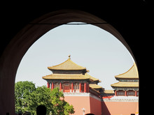 View Of The Forbidden City From The Gate Of Heavenly Peace In Tiananmen Square