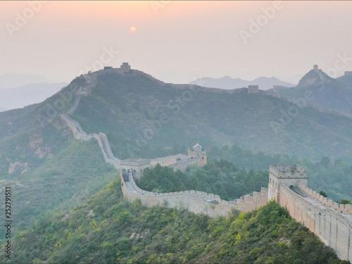 Recess Fitting China sunset view of the great wall of China, jinshanling