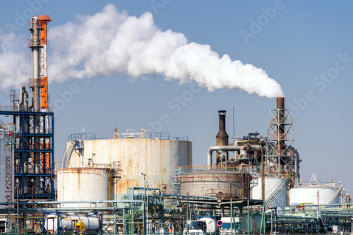 Leinwand Poster Oil petrochemical Factory