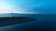 Dusk at Fort Worden over the ocean