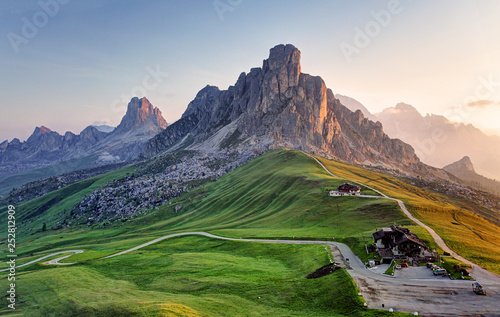 Garden Poster Alps Landscape nature mountan in Alps, Dolomites, Giau