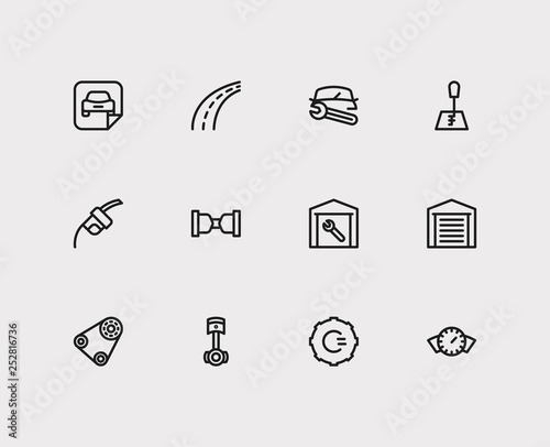 Service icons set  Gear logo and service icons with safe